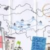 Karte zu einem Roman von Sarah Meyer-Dietrich