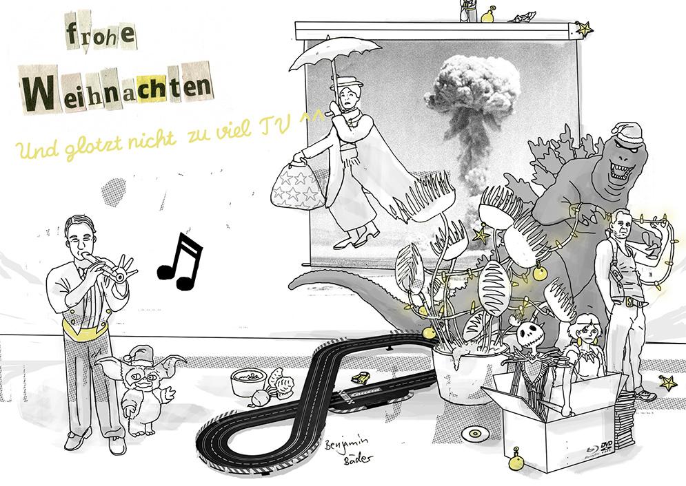 Benjamin Bäders Weihnachtskarte 2016